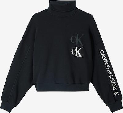 Calvin Klein Jeans Sweatshirt i grå / sort / hvid, Produktvisning