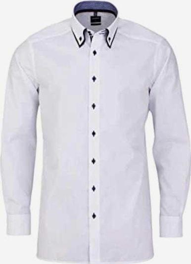 OLYMP Zakelijk overhemd in de kleur Nachtblauw / Wit, Productweergave