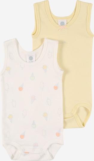 SANETTA Barboteuse / body en jaune / mélange de couleurs / blanc, Vue avec produit