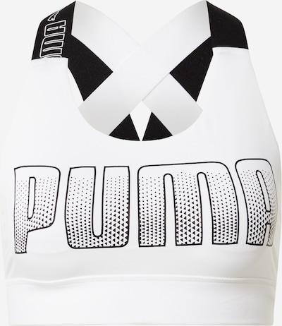 PUMA Sujetador deportivo 'Feel it' en negro / blanco, Vista del producto