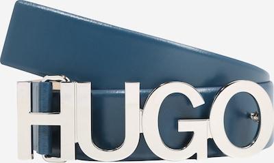 HUGO Ledergürtel 'Zula' 4 cm in dunkelblau / silber, Produktansicht