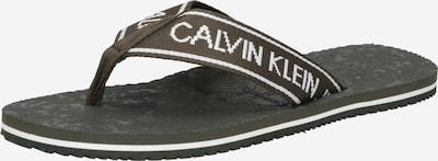 olíva Calvin Klein Jeans Ujjelválasztó-pántos szandál, Termék nézet
