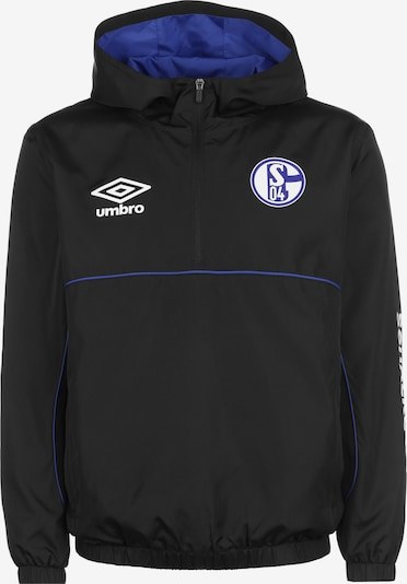 UMBRO Jacke 'FC Schalke 04' in blau / schwarz / weiß, Produktansicht