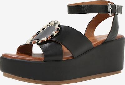 INUOVO Sandale in braun / schwarz, Produktansicht