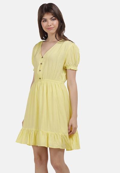 MYMO Kleid in braun / pastellgelb, Modelansicht