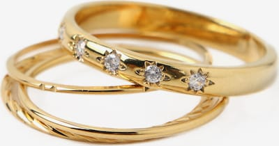 Orelia Ring Set 'Crystal Starburst' in gold, Produktansicht