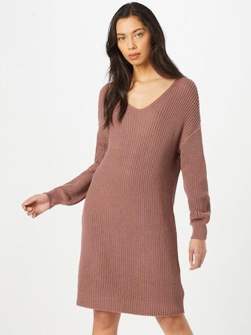 ABOUT YOU Gebreide jurk 'Laurina' in Roze