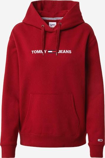 Tommy Jeans Majica 'LINEAR' | vinsko rdeča / bela barva, Prikaz izdelka