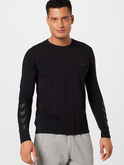 Hummel Funktionsshirt 'Sigge' in grau / schwarz: Frontalansicht