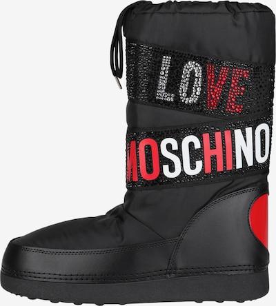 Love Moschino Stiefel mit Applikationen in schwarz, Produktansicht