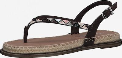 Flip-flops TAMARIS pe albastru deschis / ciocolatiu / gri / roz, Vizualizare produs