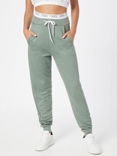 ONLY Hose 'MILA' in pastellgrün / schwarz / weiß, Modelansicht