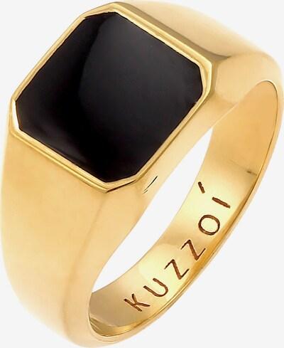 KUZZOI Ring Siegelring in gold / schwarz, Produktansicht