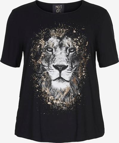 NO.1 by OX T-Shirt in gold / schwarz / weiß, Produktansicht