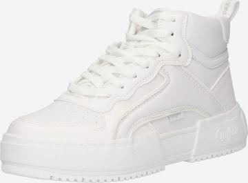 BUFFALO Високи маратонки в бяло