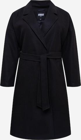 Urban Classics Curvy - Abrigo de entretiempo en negro