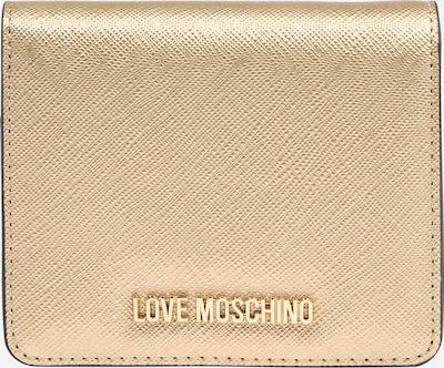 Love Moschino Porte-monnaies en or rose, Vue avec produit