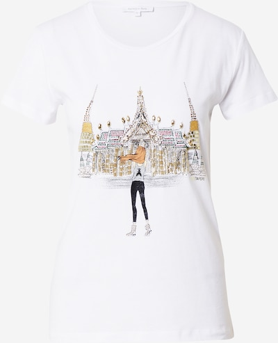 PATRIZIA PEPE Тениска 'MAGLIA' в кафяво / сиво / черно / бяло, Преглед на продукта