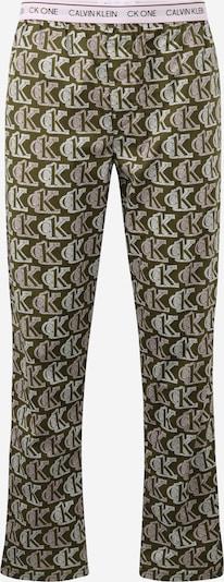 Calvin Klein Underwear Pantalon de pyjama en vert / kaki / menthe, Vue avec produit