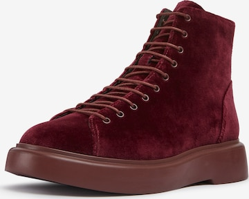 CAMPER Lace-Up Ankle Boots 'Poligono' in Red