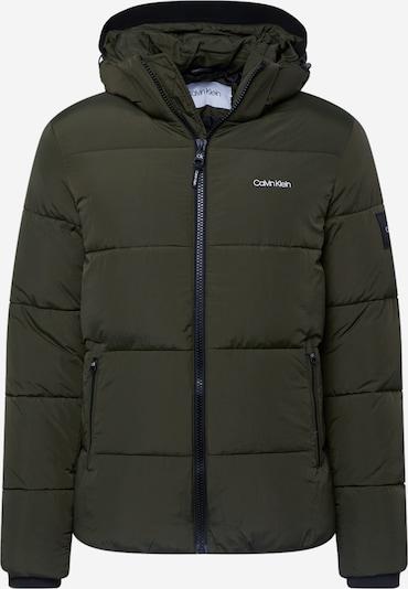 Calvin Klein Veste d'hiver 'CRINKLE NYLON PUFFA JACKET' en olive, Vue avec produit