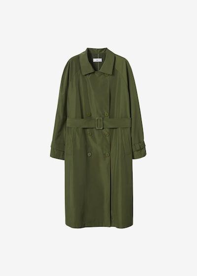 MANGO Trenchcoat in grün, Modelansicht