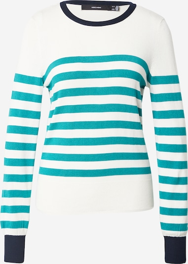 VERO MODA Pullover i natblå / cyanblå / hvid, Produktvisning
