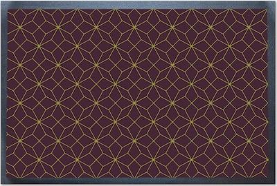 ACHOKA® Fußmatte in blau / gelb / bordeaux, Produktansicht