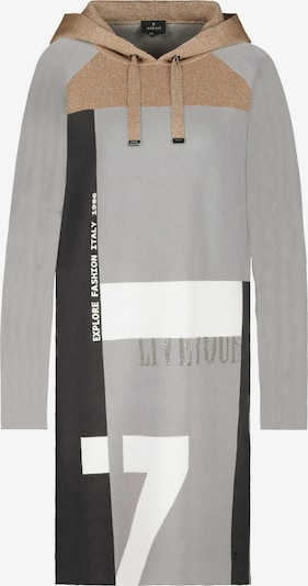 monari Плетена рокля в бежово / светлосиво / бяло, Преглед на продукта