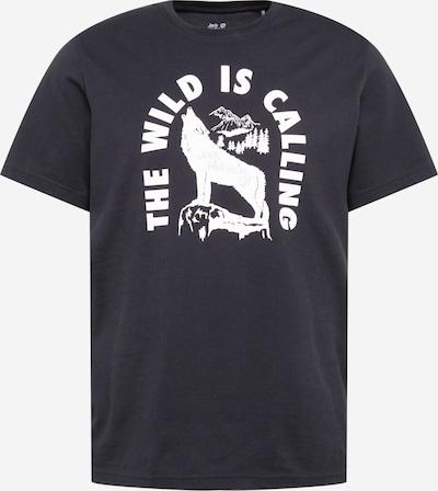 JACK WOLFSKIN T-Shirt in schwarz / weiß, Produktansicht