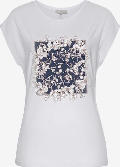 TAMARIS Shirt in dunkelblau / weiß, Produktansicht