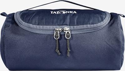 TATONKA Toilettas 'Care Barrel' in de kleur Donkerblauw / Grijs / Wit, Productweergave
