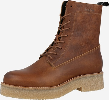 HUB Lace-Up Ankle Boots 'Torre' in Brown