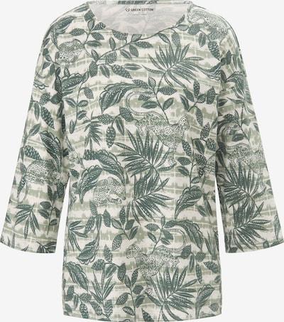 Green Cotton Shirt in de kleur Ecru / Riet, Productweergave