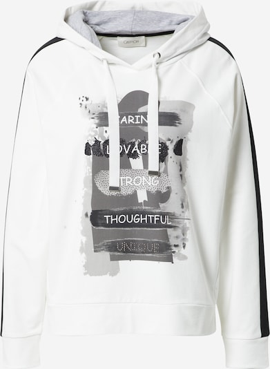 Cartoon Sweatshirt in grau / schwarz / weiß, Produktansicht