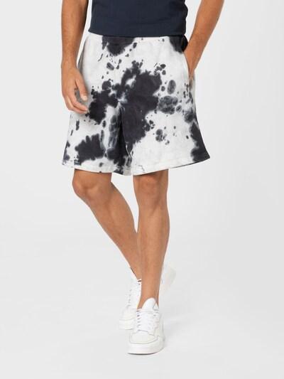 Pantaloni Superdry pe gri închis / negru / alb, Vizualizare model