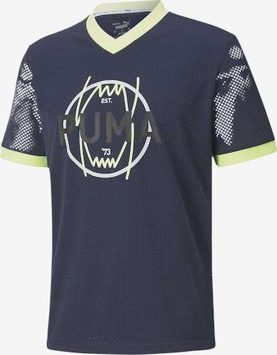 PUMA T-Shirt in blau / nachtblau / weiß, Produktansicht
