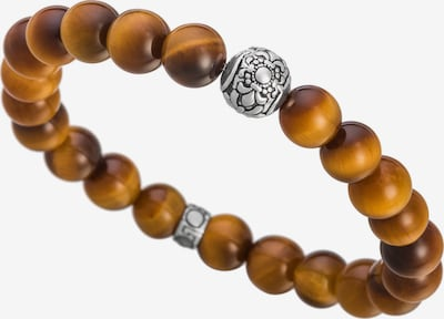 Lunavit Perlenarmband Magnet 'Aton' in braun, Produktansicht
