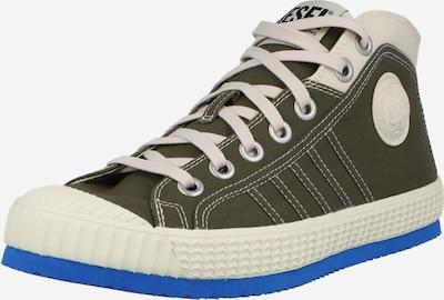 DIESEL Sneaker 'YUK' in kitt / himmelblau / oliv, Produktansicht