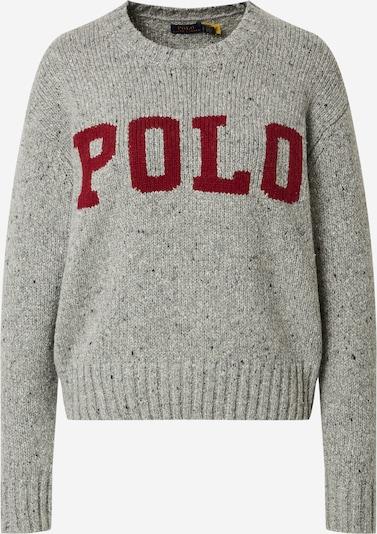 Polo Ralph Lauren Pullover in graumeliert / rot, Produktansicht