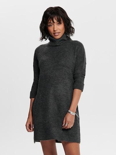 ONLY Gebreide jurk 'Jana' in de kleur Donkergrijs, Modelweergave