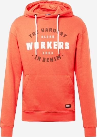 BLEND Sweatshirt i roströd / orangeröd / vit, Produktvy