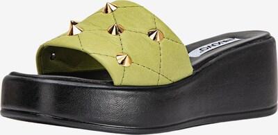 INUOVO Pantoletten in grün / hellgrün, Produktansicht