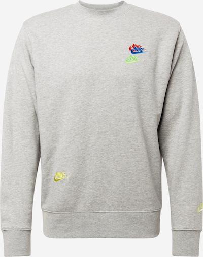 Nike Sportswear Sportsweatshirt 'Essentials+' in blau / gelb / graumeliert / grün, Produktansicht