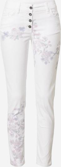 LASCANA Pantalon en mélange de couleurs / blanc, Vue avec produit