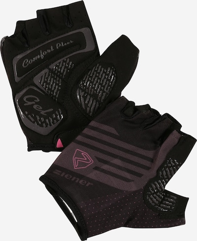 ZIENER Sports gloves 'CLARETE' in Pink / Black, Item view