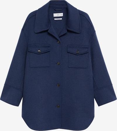 MANGO Manteau mi-saison en indigo, Vue avec produit