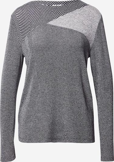 TOM TAILOR Shirt in anthrazit / hellgrau, Produktansicht