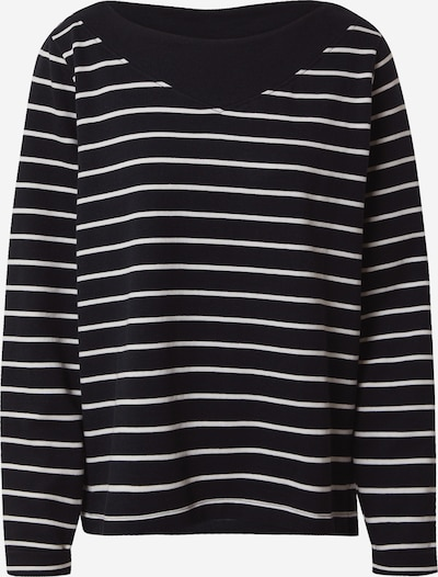 ESPRIT Sportisks džemperis melns / balts, Preces skats