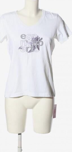 ESPRIT SPORT V-Ausschnitt-Shirt in XL in hellgrau / weiß, Produktansicht